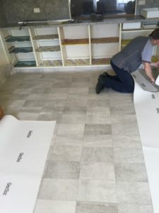 vinyl laying & installation in Geelong